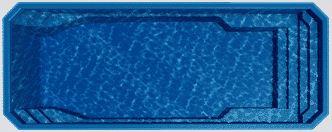 Barrier Reef grecian fiberglass pool