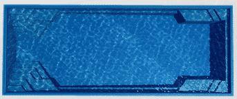Barrier Reef rectangle fiberglass pool