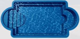 Barrier Reef roman fiberglass pool