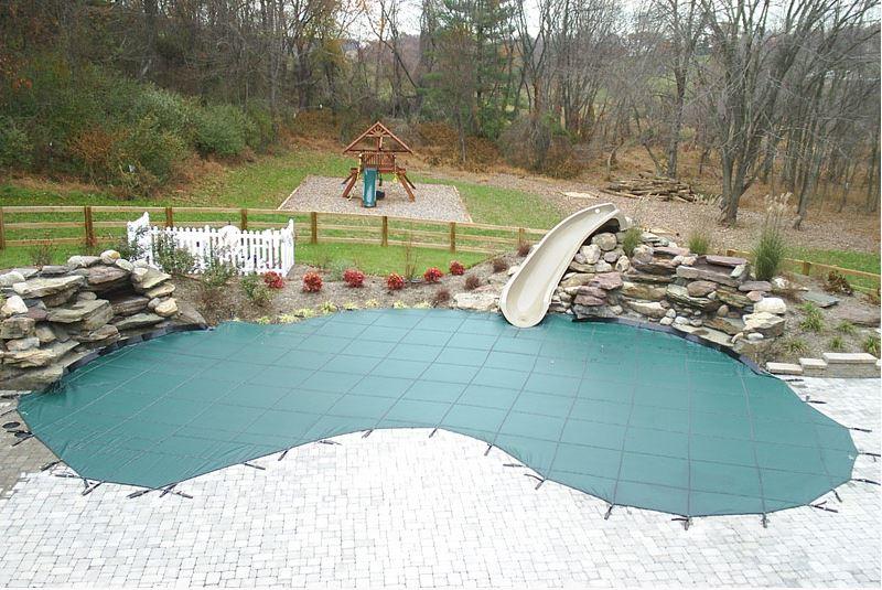 pool winter safety covers kidney shape loop-loc1